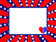 4th July card Stock Photography