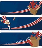 4th july celebration. Three banners for 4th of july celebration royalty free illustration