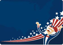 4th july celebration. Background 4th of july celebration with uncle sam vector illustration