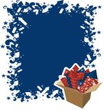 4th july celebration. 4th of july celebration with box of fireworks Royalty Free Stock Photo