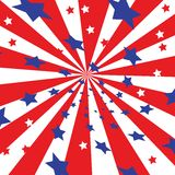 4th july celebration. Blue red and white stars Royalty Free Stock Photo