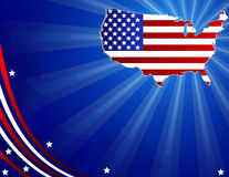 4th of july celebration card Stock Photography