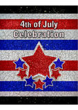 4th of July Celebration Design Stock Image