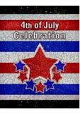 4th of July Celebration Design Stock Image