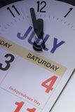 4th of July countdown Royalty Free Stock Photo
