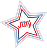 4th of July design element. 4th of July star, design element, eps10 illustration Royalty Free Stock Photo