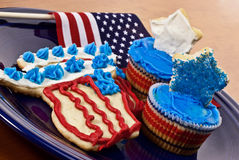4th of July Desserts Royalty Free Stock Photos