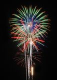 4th of july Fireworks. This was taken at a local fireworks holiday celebration Stock Images