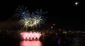 4th of July Fireworks in Boston Stock Photography