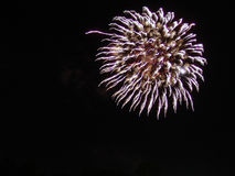 4th of July Fireworks Celebration in USA Royalty Free Stock Photography