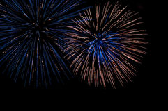 4th of July fireworks display Royalty Free Stock Photos