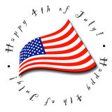 4th of July Flag. An illustrated icon for the Fourth of July Royalty Free Stock Image