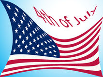 4th of july flag Stock Image