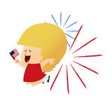 4th July Girl Royalty Free Stock Photography
