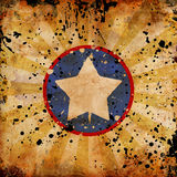 4th July grunge background. With stains Stock Photo