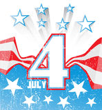 4th of July grunge background (stripes and stars). 4th of July grunge background royalty free illustration