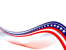 4th july - Independence day. Illustration of red and blue stars and stripes on white background Stock Image