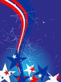 4th july independence day. Illustration of blue and red stars and stripes Stock Photos