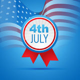 4th of july independence day. Vector 4th of july independence day design art Royalty Free Illustration