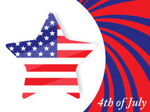 4th of July Independence Day. Vector illustration for 4th of July Independence Day Royalty Free Stock Photography