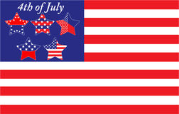 4th of July Independence Day. Vector illustration for 4th of July Independence Day Stock Photos