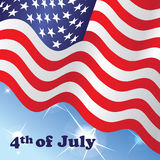 4th of July Independence Day - American Flag. Illustration of waving American Flag Stock Photo