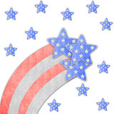 4th July independence day background. Texture vector illustration