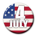 4th July Independence Day Badge. 4th July Independence Day Pin Badge or Avatar Royalty Free Stock Images