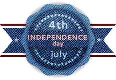 4th July Independence day banner Royalty Free Stock Image