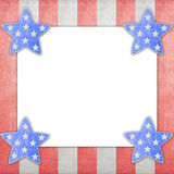 4th of July independence day on note paper. 4th of July independence day background on note paper royalty free illustration