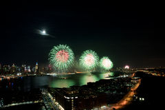 4th of July Macys fireworks display Royalty Free Stock Images