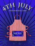 4th July menu. A 4th July Independence day menu template Royalty Free Stock Photo