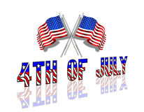 4th of July Patriotic Background. American Flags design for Independence Day, July 4th royalty free illustration