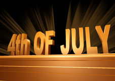 4th of July on a pedestal Royalty Free Stock Photo