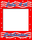 4th. of July poster. Red white and blue illustration vector illustration