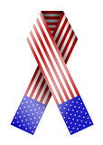 4th of july ribbon isolated on white.  Stock Image