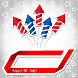 4th july Rocket Background Stock Photo