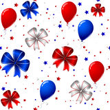 4th of july seamless background. Vector of 4th of july seamless background Royalty Free Stock Images
