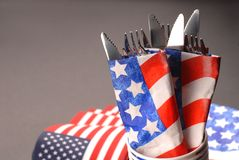 4th of July silverware theme Royalty Free Stock Images