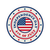 4th of July stamp. 4th of July, Independence Day stamp over white background Stock Photography