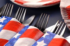 A 4th of July table setting Stock Image
