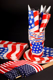 4th of July tablesetting stock photography
