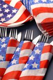 4th of July tablesetting Royalty Free Stock Photo