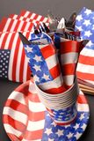 4th of July tablesetting theme Stock Image