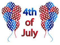 4th of July vector. Celebration with balloons in 4th of July Stock Images