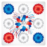 4th of July  Vector Ribbon. Isolated Holiday Ribbons for 4th of July Stock Image