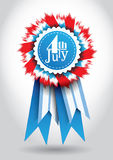 4th of July  Vector Ribbon. Isolated Holiday Ribbon for 4th of July Royalty Free Stock Photos