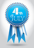 4th July Vector Ribbon. Isolated Holiday Ribbon for 4th of July Royalty Free Stock Image