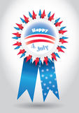 4th July Vector Ribbon. Isolated Holiday Ribbon for 4th of July Royalty Free Stock Images