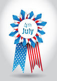 4th July Vector Ribbon. Isolated Holiday Ribbon for 4th of July Stock Photography